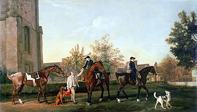 George Stubbs | Lord Torrington's Hunt Servants Setting Out from Southill, Bedfordshire, 1767 | Giclée Canvas Print