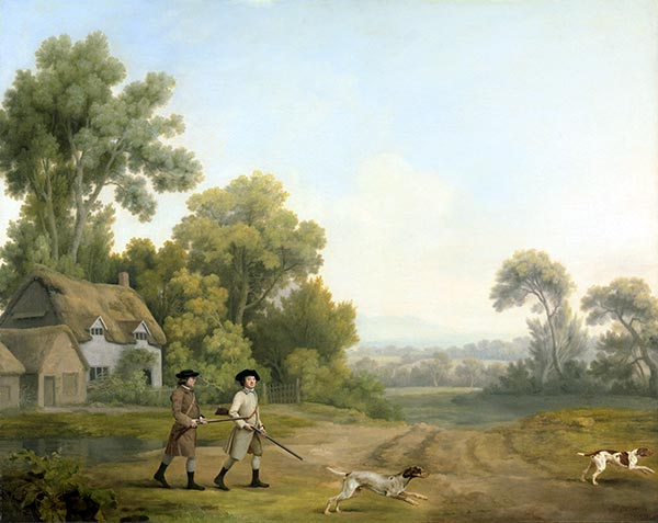 Two Gentlemen Going a Shooting, 1768 | George Stubbs | Giclée Canvas Print