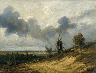 Landscape with Mill, undated | Georges Michel | Painting Reproduction
