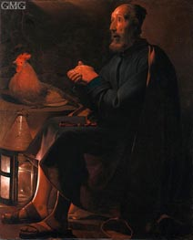 Georges de La Tour | St Peter Repentant, 1645 | Giclée Canvas Print