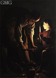 Georges de La Tour | St. Joseph, the Carpenter, c.1640 | Giclée Canvas Print