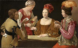 Georges de La Tour | The Cheat with the Ace of Clubs, c.1630/34 | Giclée Canvas Print