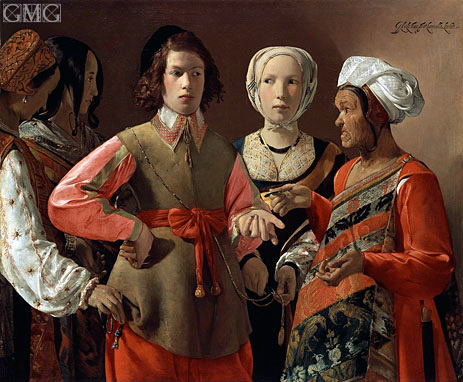 The Fortune Teller, c.1635 | Georges de La Tour | Giclée Canvas Print