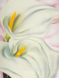 O'Keeffe | Two Calla Lilies on Pink, 1928 by | Giclée Canvas Print