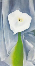 O'Keeffe | Calla Lilly on Grey | Giclée Canvas Print