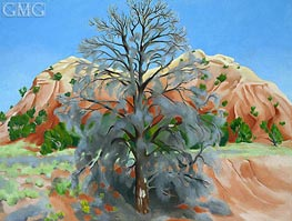 O'Keeffe | Dead Tree with Pink Hill | Giclée Canvas Print