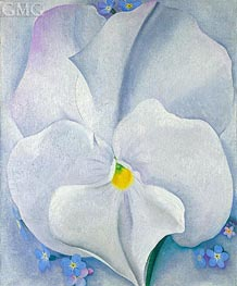 O'Keeffe | White Pansy (Pansy with Forget-me-nots) | Giclée Canvas Print