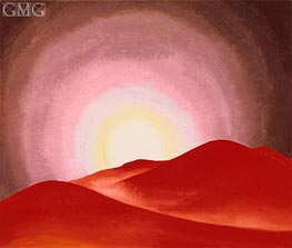 O'Keeffe | Red Hills, Lake George | Giclée Canvas Print