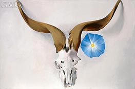 O'Keeffe | Ram's Head, Blue Morning Glory, 1938 | Giclée Canvas Print