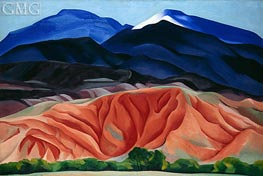 O'Keeffe | Black Mesa Landscape, New Mexico (Out Back of Marie's II), 1930 | Giclée Canvas Print