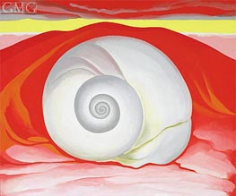 O'Keeffe | Red Hills with White Shell, 1938 | Giclée Canvas Print