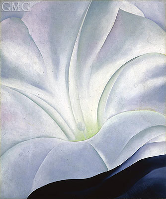 Morning Glory with Black, 1926 | O'Keeffe | Painting Reproduction
