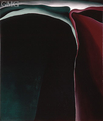 Dark Abstraction, 1924 | O'Keeffe | Painting Reproduction