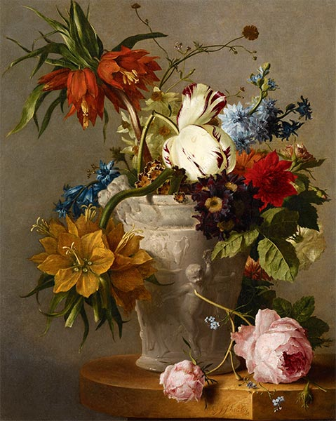 An Arrangement with Flowers, Undated | Georgius van Os | Giclée Canvas Print