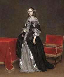 Gerard ter Borch | Portrait of a Woman | Giclée Canvas Print