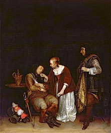 Gerard ter Borch | The Sleeping Soldier | Giclée Canvas Print