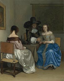 Gerard ter Borch | The Card Players, c.1659 | Giclée Canvas Print