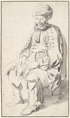 A Seated Man in Middle Eastern Costume, 1646 | Gerbrand van den Eeckhout | Giclée Paper Print