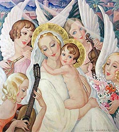 Gerda Wegener | Madonna and Child with Musical Angels, 1935 | Giclée Canvas Print