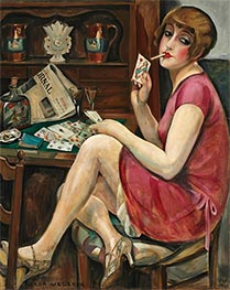 Gerda Wegener | Queen of Hearts (Solitaire) | Giclée Canvas Print
