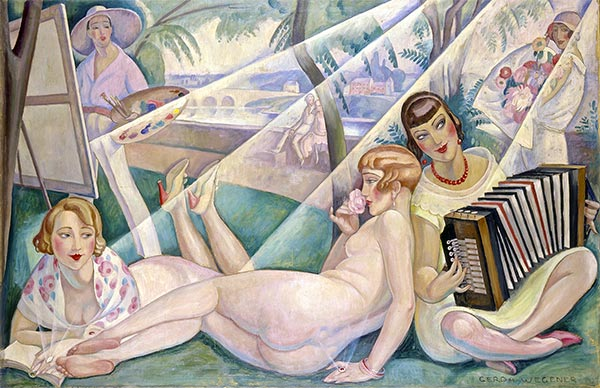 A Summer Day, 1927 | Gerda Wegener | Giclée Canvas Print