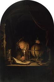 Gerrit Dou | Astronomer by Candlelight, c.1655/59 | Giclée Canvas Print