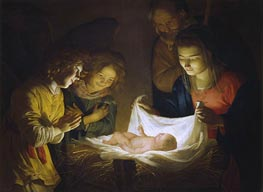 Gerrit van Honthorst | Adoration of the Child | Giclée Canvas Print