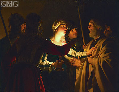 The Denial of St. Peter, c.1623 | Gerrit van Honthorst | Giclée Canvas Print