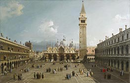 Canaletto | Piazza San Marco With the Cathedral | Giclée Canvas Print