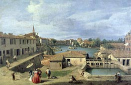 Canaletto | A View of Dolo on the Brenta Canal | Giclée Canvas Print