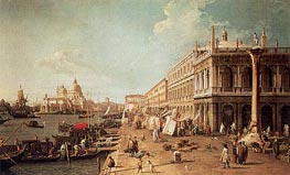 Canaletto | Molo with the Library, Looking Towards the Zecca | Giclée Canvas Print