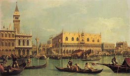 Canaletto | Piazzetta and the Doge's Palace | Giclée Canvas Print