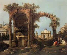 Canaletto | Landscape with Ruins | Giclée Canvas Print