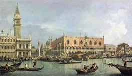 Canaletto   The Molo and the Piazzetta San Marco, Venice   Giclée Canvas Print