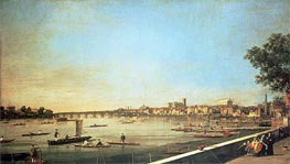 Canaletto   London, the Thames at Westminster and Whitehall from the Terrace of Somerset House   Giclée Canvas Print