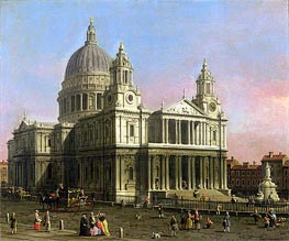 Canaletto   Saint Paul Cathedral   Giclée Canvas Print