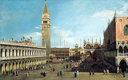 Canaletto | The Piazzetta, Venice, Looking North | Giclée Canvas Print