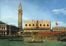 Canaletto | The Bucintoro at the Molo on Ascension Day | Giclée Canvas Print