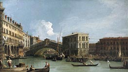 Canaletto | Rialto Bridge | Giclée Canvas Print