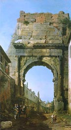 Canaletto   Rome: The Arch of Titus   Giclée Canvas Print