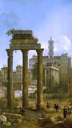 Canaletto   Rome: The Ruins of the Forum looking towards the Capitol   Giclée Canvas Print