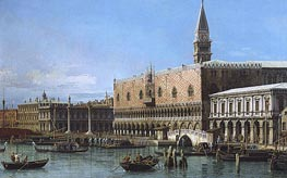 Canaletto   Venice: The Molo with the Prisons and the Doges' Palace   Giclée Canvas Print