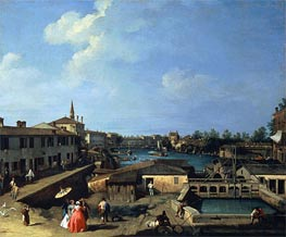Canaletto | Dolo on the Brenta | Giclée Canvas Print