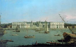 Canaletto | Greenwich Hospital from the North Bank of the Thames | Giclée Canvas Print