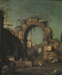 Canaletto   View of an Ancient Doorway   Giclée Canvas Print
