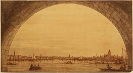 Canaletto   Distant View of St. Paul's Cathedral   Giclée Canvas Print