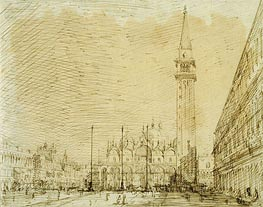 Canaletto   San Marco and the Piazza Looking East   Giclée Canvas Print