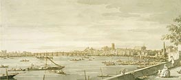 Canaletto | London: A View of Westminster from the Terrace of Somerset House, c.1750 | Giclée Paper Print
