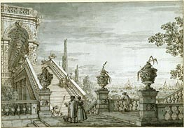 Canaletto | A Capriccio with a Monumental Staircase, c.1755/60 | Giclée Paper Print