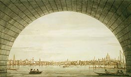 Canaletto | London: The City Seen through an Arch of Westminster Bridge, c.1750 | Giclée Paper Print